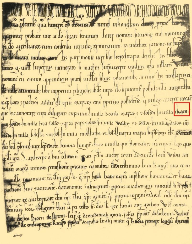 Förlikningsbrev från 1164